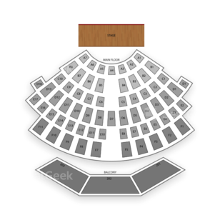 Upstate Concert Hall Seating Chart Comedy