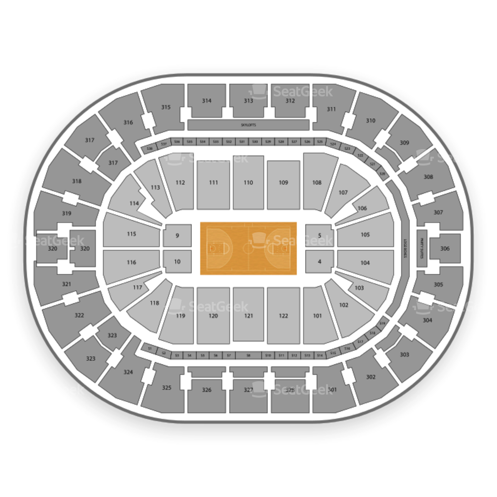 BOK Center Seating Chart NCAA Basketball