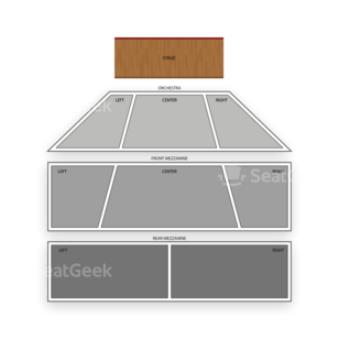 Tropicana Showroom Seating Chart Concert