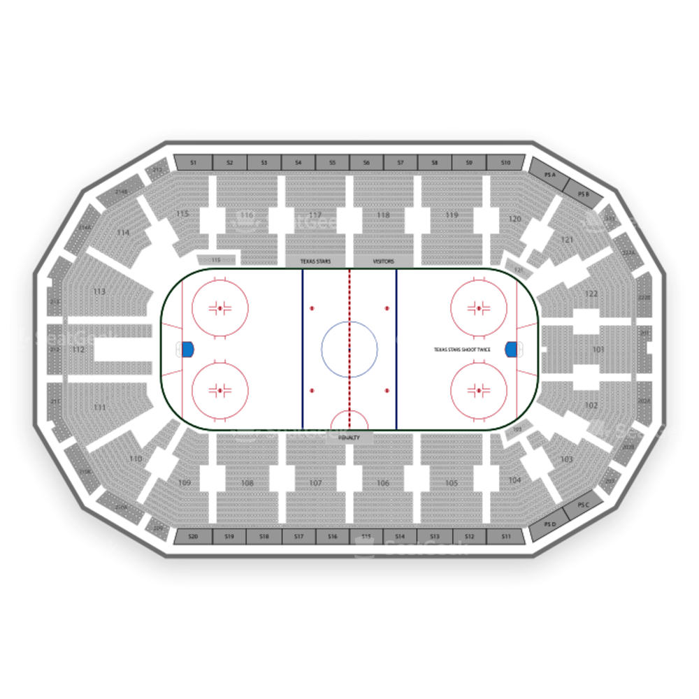 Texas Stars Seating Chart