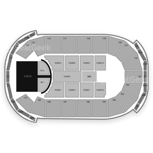 H-E-B Center at Cedar Park Seating Chart Concert