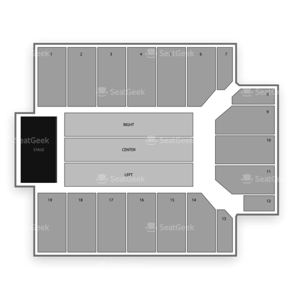 San Jose State Event Center Seating Chart Interactive Seat Map