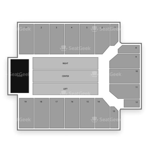 Provident Credit Union Event Center Seating Chart Concert