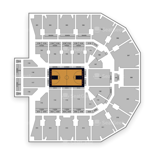 Virginia Cavaliers Basketball Seating Chart