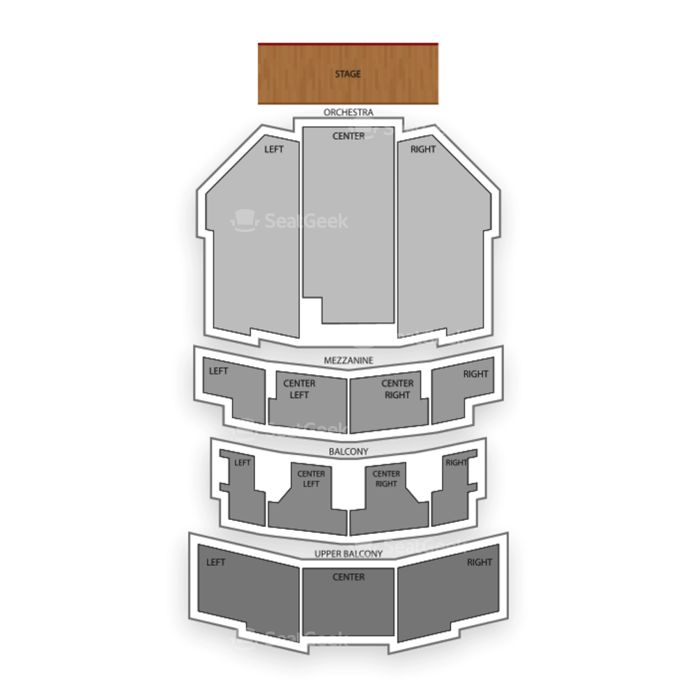 Paramount Theatre Seating Chart Comedy