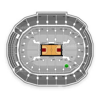 Toronto Raptors at Air Canada Centre Section 106 View