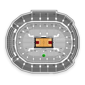 Toronto Raptors at Air Canada Centre Section 108 View