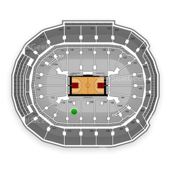 Toronto Raptors at Air Canada Centre Section 109 View
