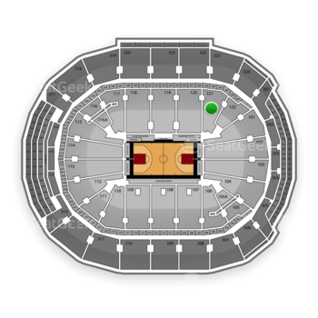 Toronto Raptors at Air Canada Centre Section 121 View
