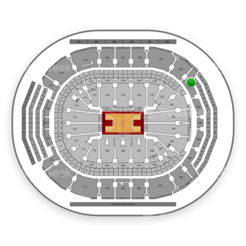 Toronto Raptors at Scotiabank Arena Section 301 View