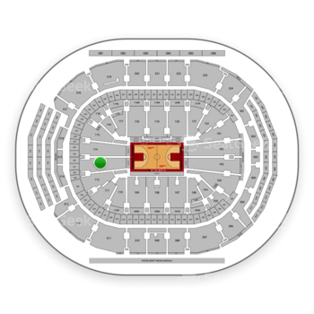 Toronto Raptors at Scotiabank Arena Section 113 View