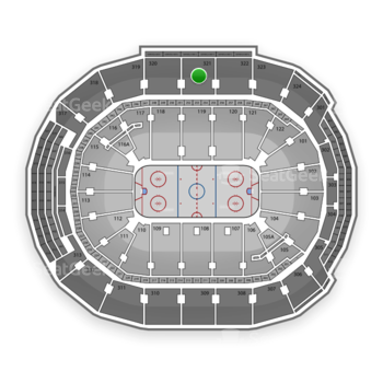 Toronto Maple Leafs at Air Canada Centre Section 321 View