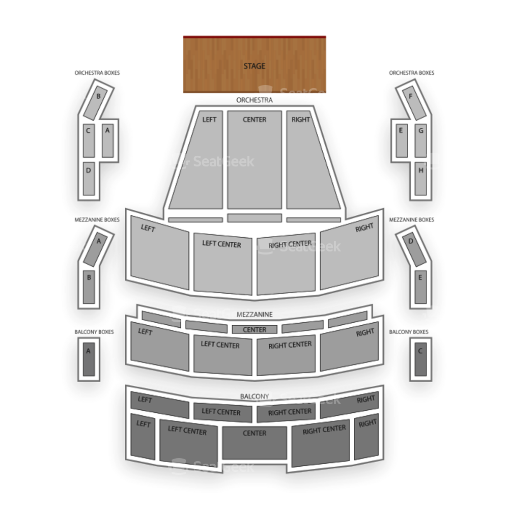 Broward Center for the Performing Arts Seating Chart Dance Performance Tour