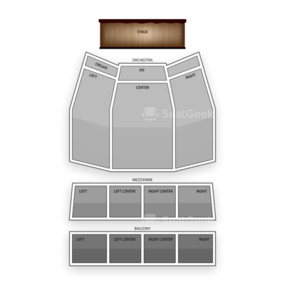 The Plaza Theatre Performing Arts Center seating chart Wicked