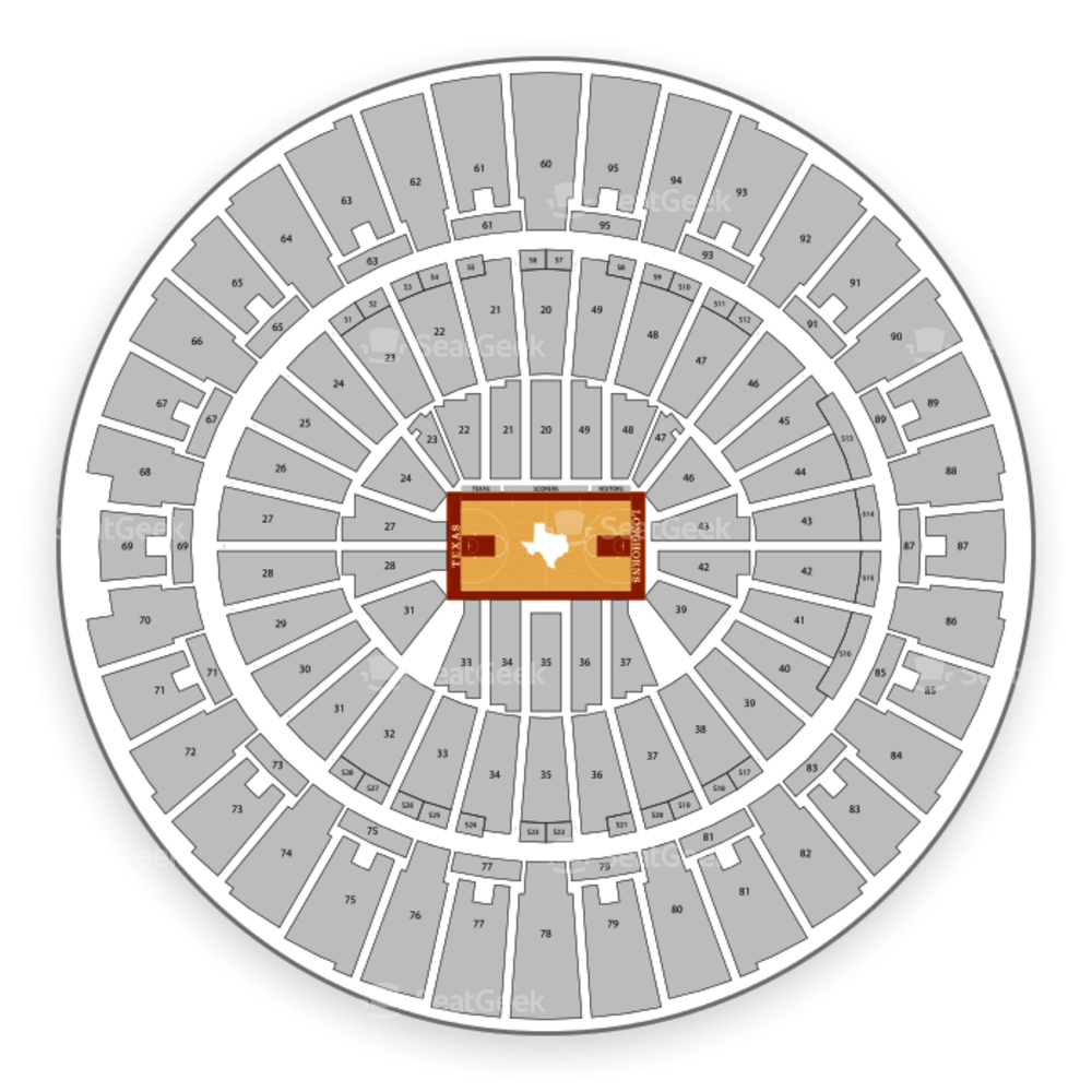 Texas Longhorns Basketball Seating Chart