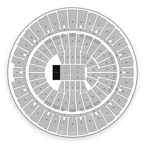 Frank Erwin Center Seating Chart Map Seatgeek