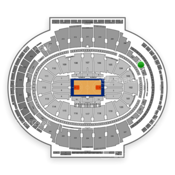 NBA at Madison Square Garden Section 206 View