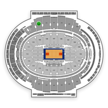 NBA at Madison Square Garden Section 213 View