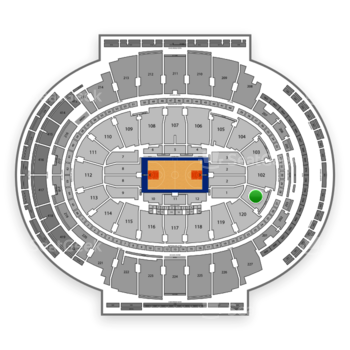 New York Knicks at Madison Square Garden Section 101 View
