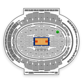 New York Knicks at Madison Square Garden Section 104 View