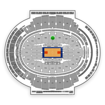 New York Knicks at Madison Square Garden Section 107 View