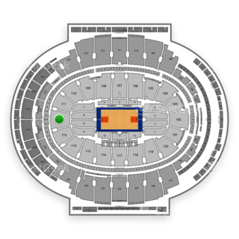 New York Knicks at Madison Square Garden Section 112 View