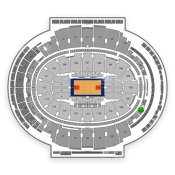 New York Knicks at Madison Square Garden Section 202 View