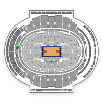New York Knicks at Madison Square Garden Section 217 View