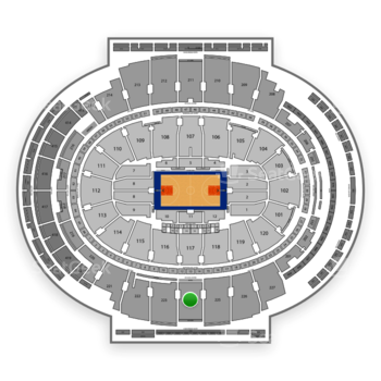 New York Knicks at Madison Square Garden Section 224 View