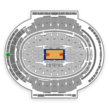 New York Knicks at Madison Square Garden Section 320 View