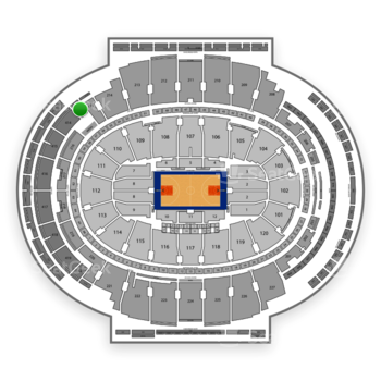 New York Knicks at Madison Square Garden Section 413 View