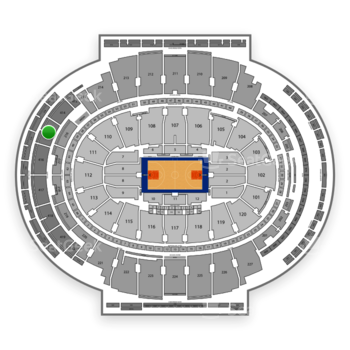New York Knicks at Madison Square Garden Section 415 View