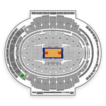 New York Knicks at Madison Square Garden Section 420 View