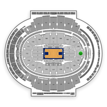 New York Knicks at Madison Square Garden Section 102 View