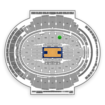 New York Knicks at Madison Square Garden Section 106 View