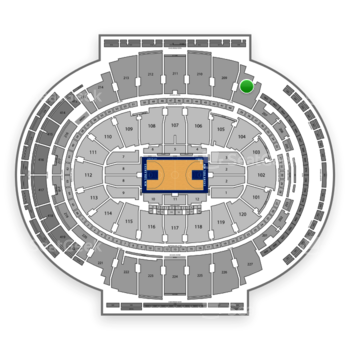 New York Knicks at Madison Square Garden Section 208 View