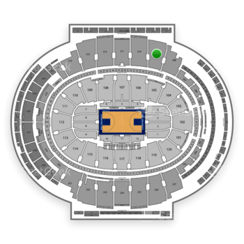 New York Knicks at Madison Square Garden Section 209 View