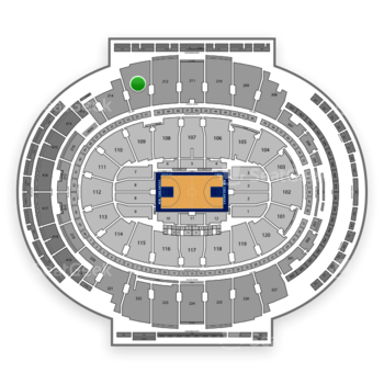 New York Knicks at Madison Square Garden Section 213 View