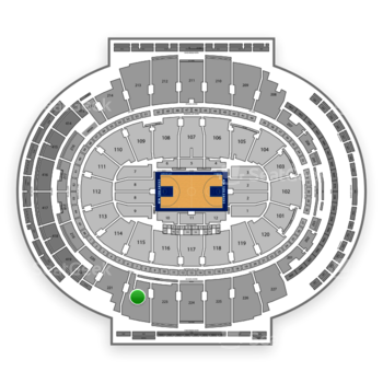 New York Knicks at Madison Square Garden Section 222 View