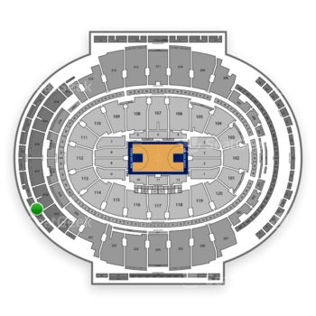 New York Knicks at Madison Square Garden Section 322 View