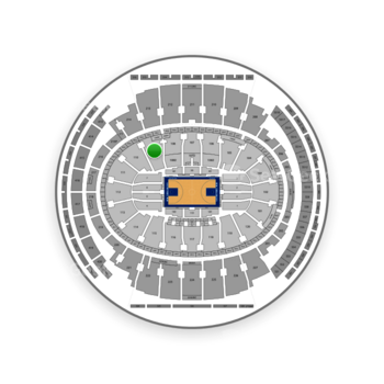 New York Knicks at Madison Square Garden Section 109 View