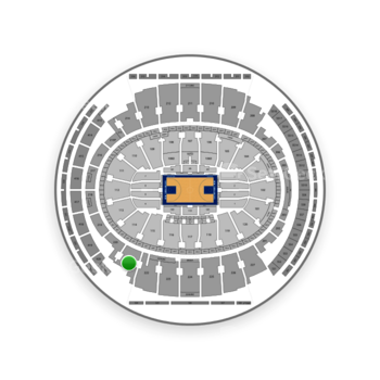 New York Knicks at Madison Square Garden Section 221 View