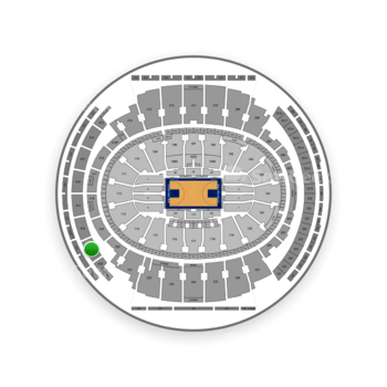 New York Knicks at Madison Square Garden Section 419 View