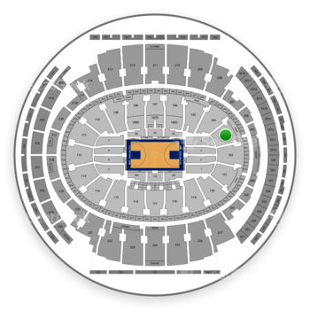 New York Knicks at Madison Square Garden Section 103 View