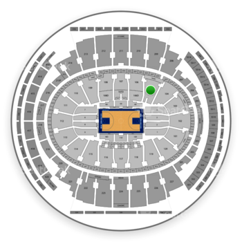 New York Knicks at Madison Square Garden Section 105 View