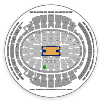 New York Knicks at Madison Square Garden Section 116 View