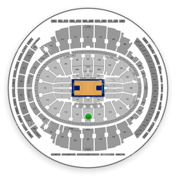 New York Knicks at Madison Square Garden Section 117 View
