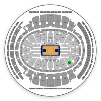 New York Knicks at Madison Square Garden Section 120 View