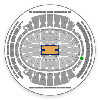 New York Knicks at Madison Square Garden Section 203 View