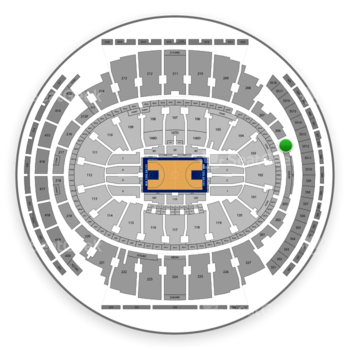 New York Knicks at Madison Square Garden Section 205 View